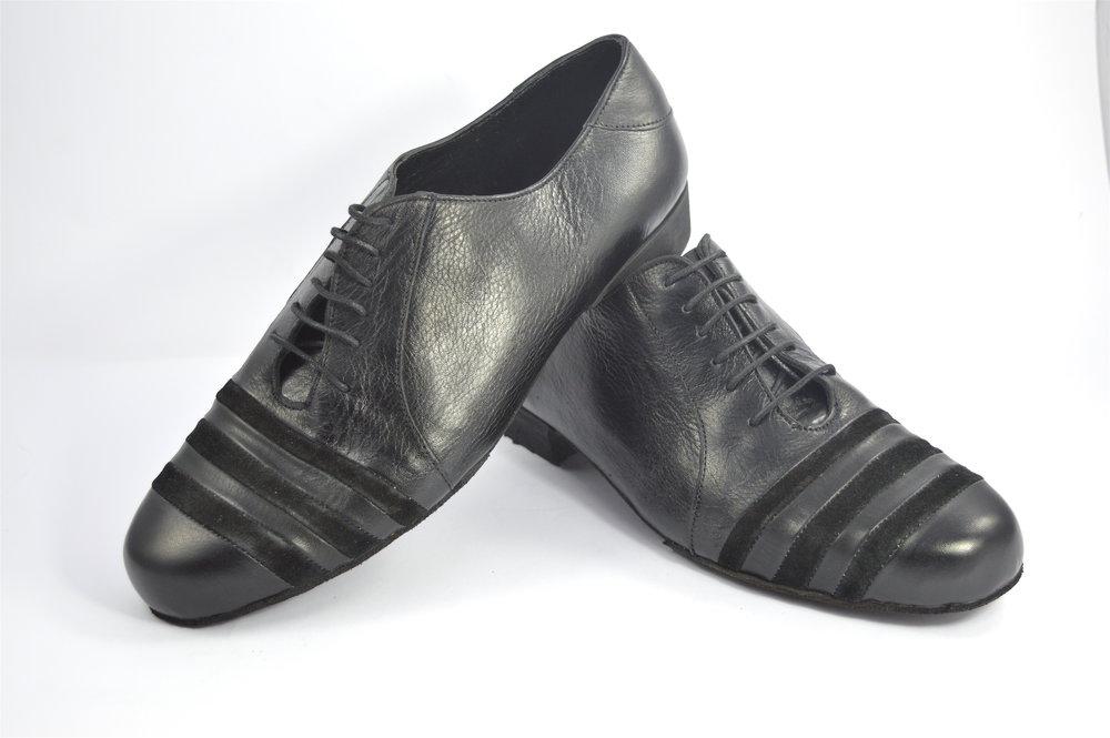Ανδρικό παπούτσι τάνγκο από μαύρο δέρμα