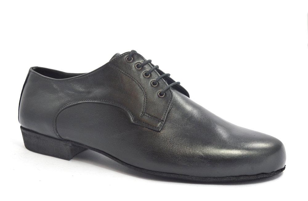 Ανδρικό παπούτσι χορού αργεντίνικου τάνγκο από μαύρο δέρμα