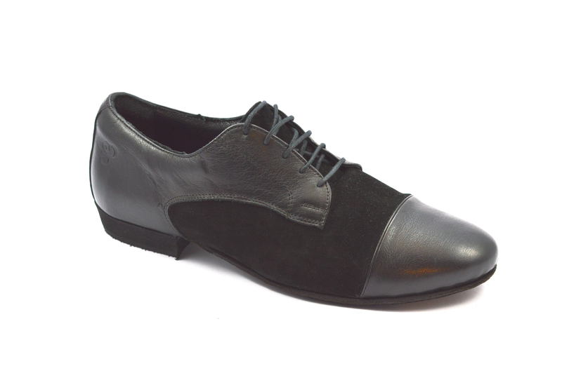 Men Tango Shoe By Combination Black Leather And Suede