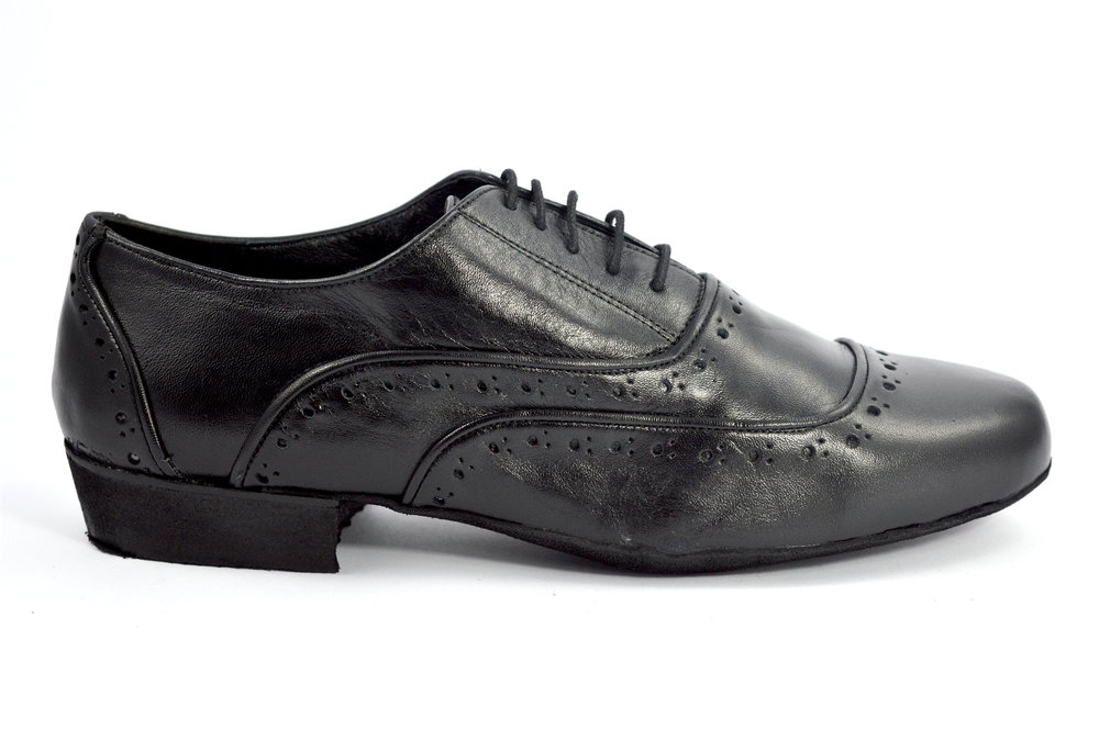 Ανδρικό παπούτσι για αργεντίνικο τάνγκο από μαύρο δέρμα