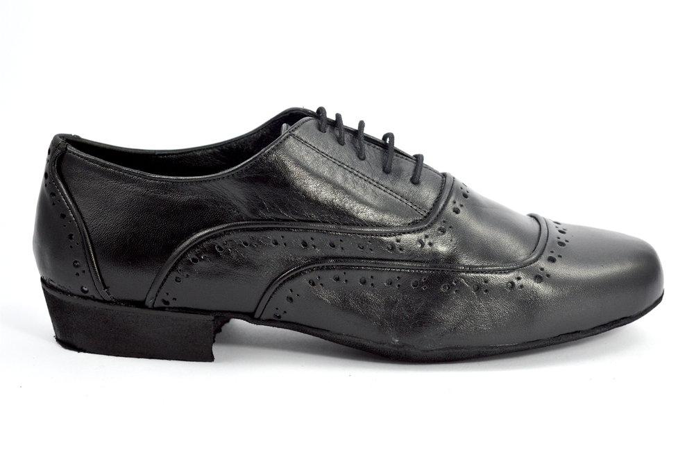 Men argentine tango shoe by soft black leather