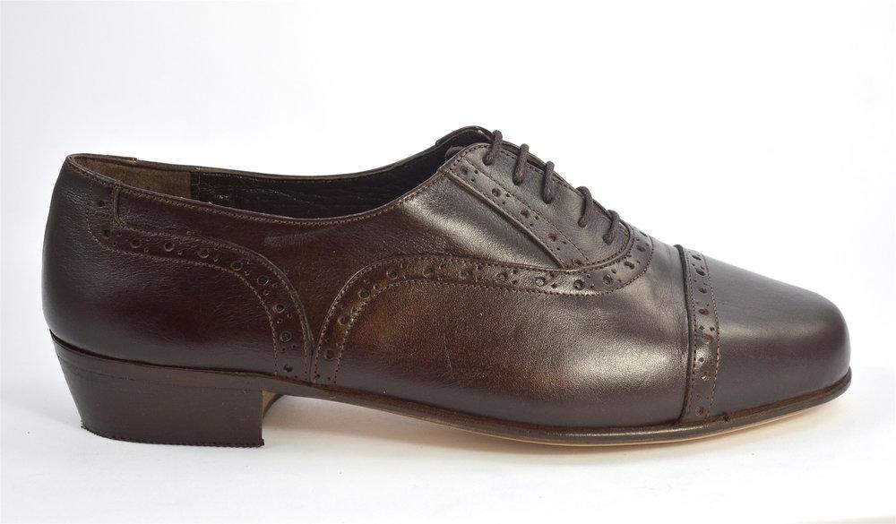 Ανδρικό παπούτσι τάνγκο από καφέ δέρμα