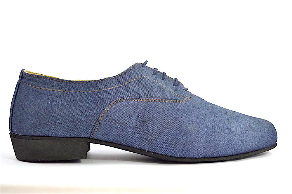 Ανδρικό παπούτσι χορού αργεντίνικου τάνγκο από τζιν ύφασμα