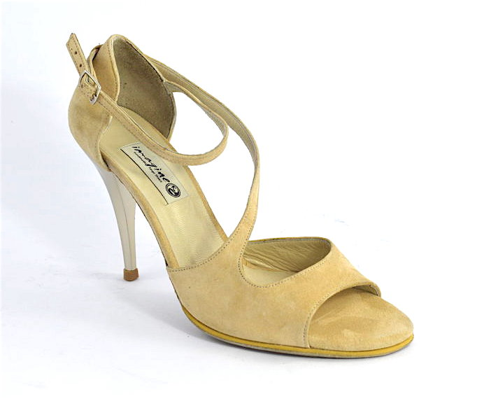 Women Tango Shoe, by nude suede leather