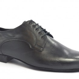 Mens argentine tango dance shoes by black leather