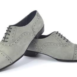 Men tango shoe by grey suede