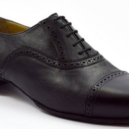 Men tango shoe by black leather