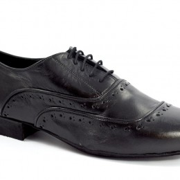 Men argentine tango shoe by soft black leather