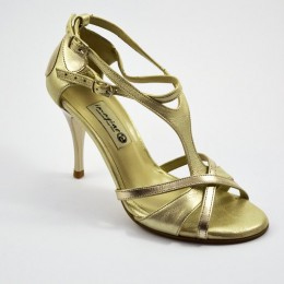 Women Tango Shoe, by gold soft leather