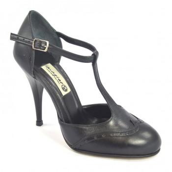 7a3e5ac8aa Γυναικείο παπούτσι χορού tango closed toe από μαλακό μαύρο δέρμα