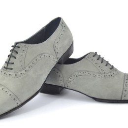 Men tango shoe by grey suede